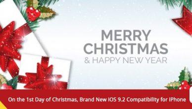 iOS 9.2 Christmas