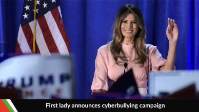 First Lady, Melania Trump announces Anti-Cyberbullying Campaign