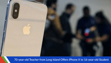 70-year-old Teacher from Long Island Offers iPhone X to 16-year-old Student