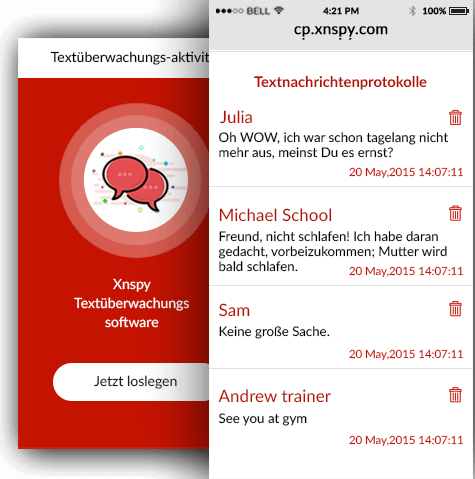 iPhone Textüberwachungssoftware
