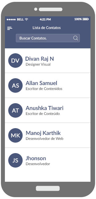 Contacts Lists Monitoring App